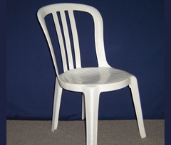 white bistro chair available for rent