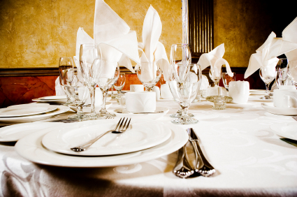 dish, glassware and flatware rentals available